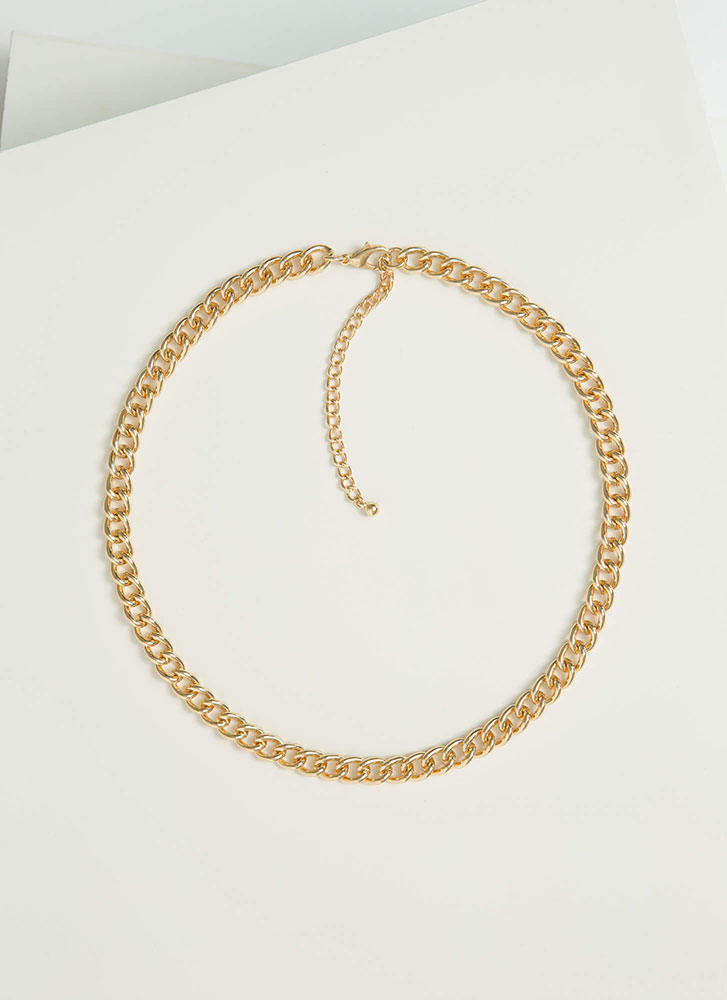 Link Together Chain Necklace GOLD