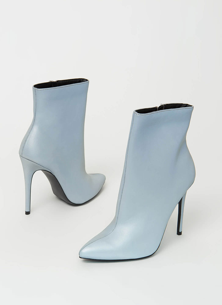 Flash Mob Pointy Reflective Booties GREY