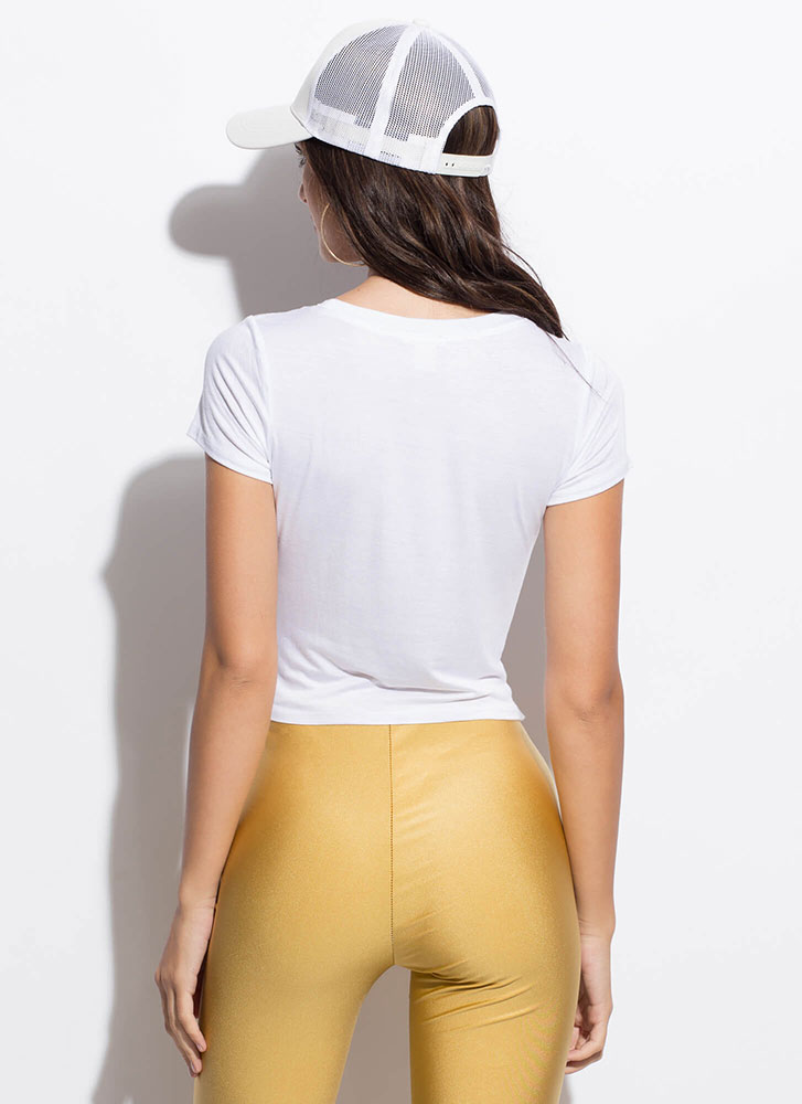 Good Things Small Packages Cropped Tee WHITE