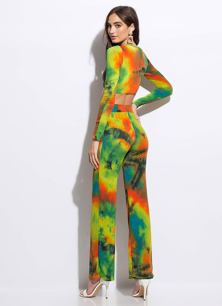 Generation Tie-Dye Top And Pant Set GREENMULTI