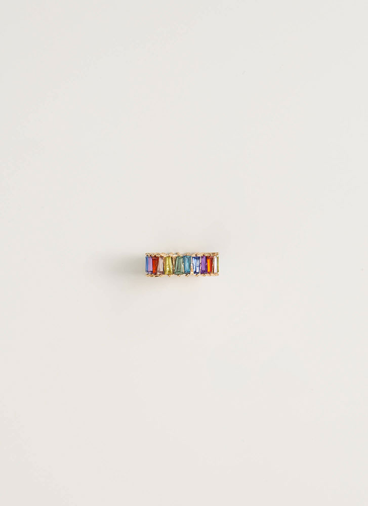 Lucky You Jeweled Rainbow Ring MULTI