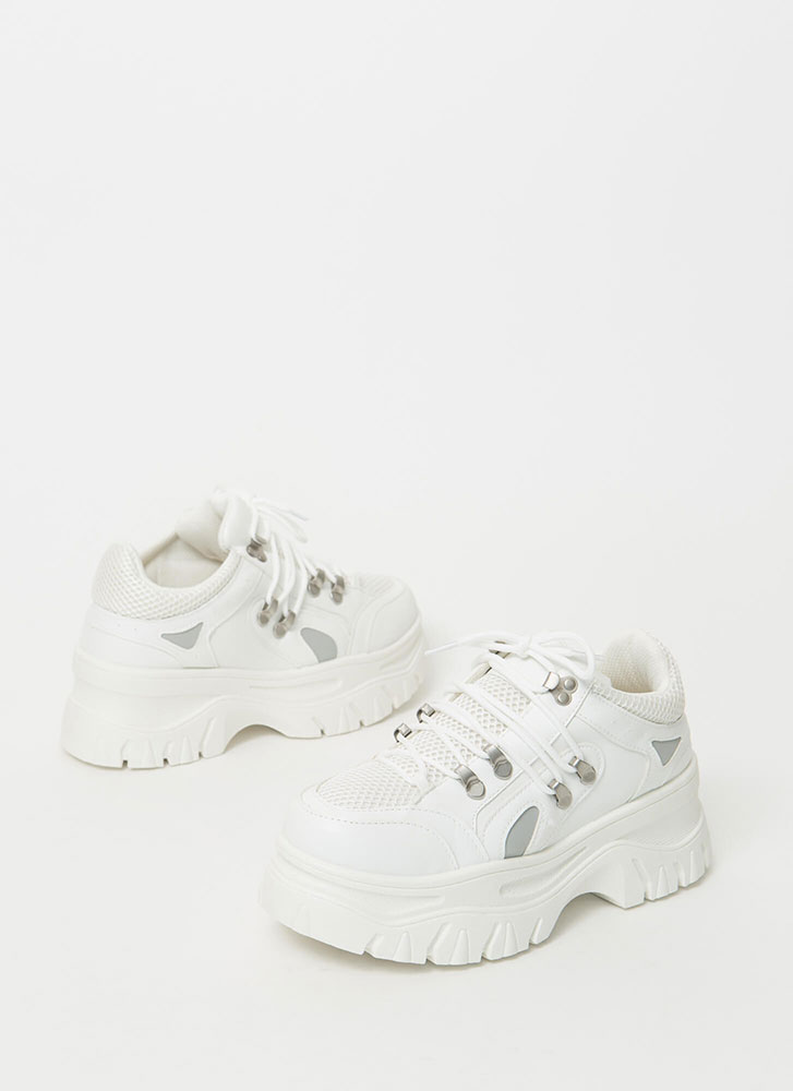 Higher Level Platform Sneakers WHITE