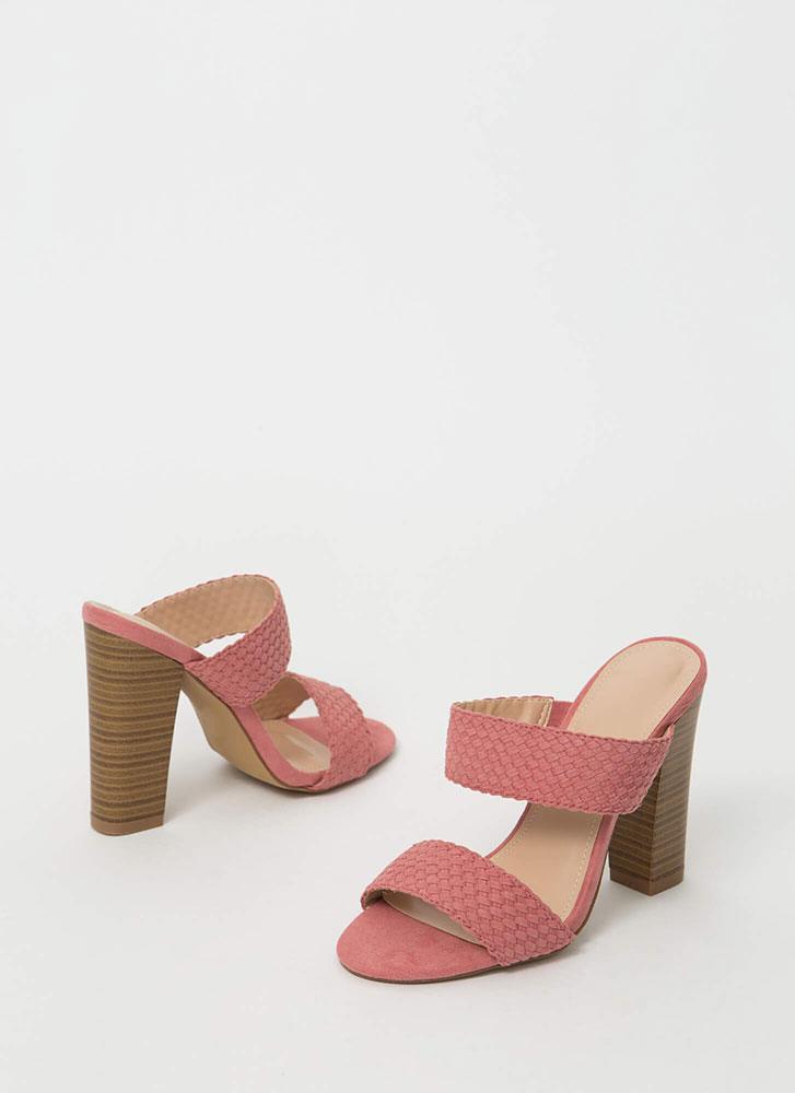 Weave Me With My Strappy Chunky Heels MAUVE