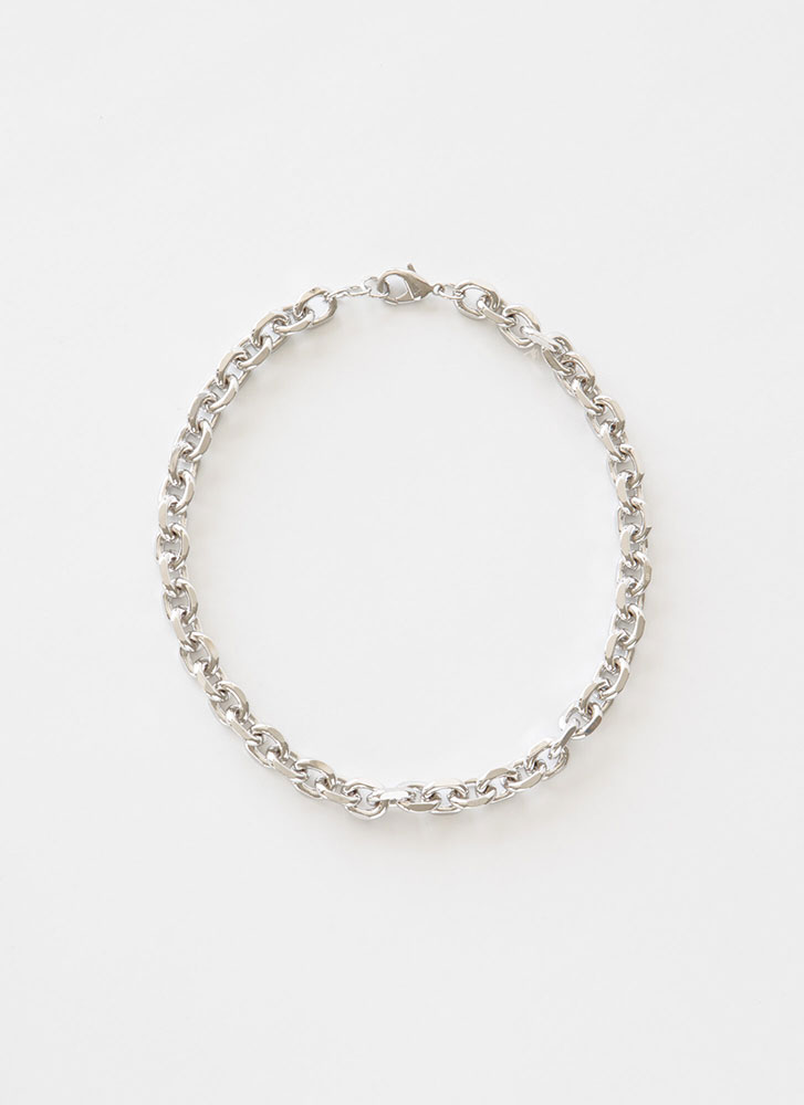 Link Of Me Cable Chain Choker SILVER