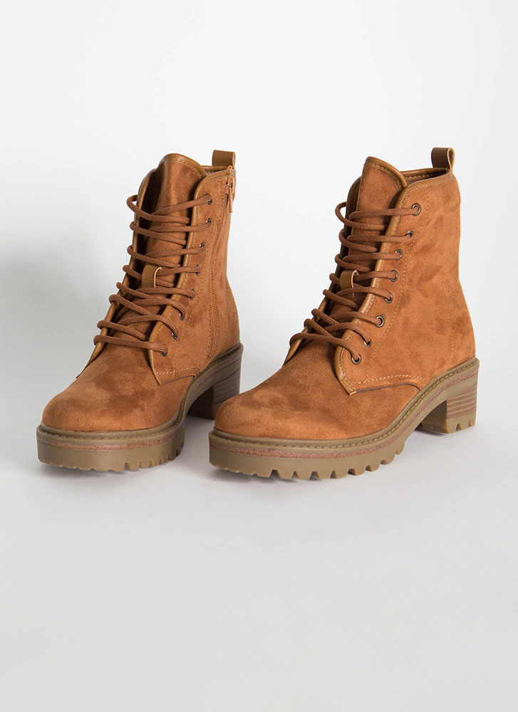 59fa91a23f0 Women At Work Lace-Up Lug Sole Boots