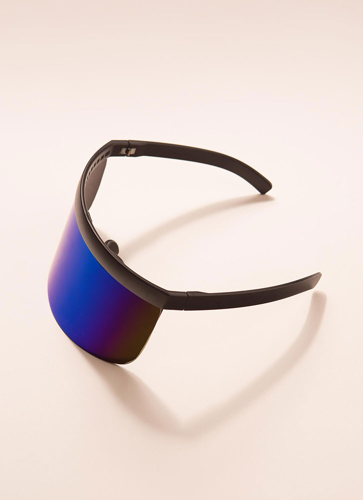 Your Fate Is Shield Visor Sunglasses BLACKBLUE