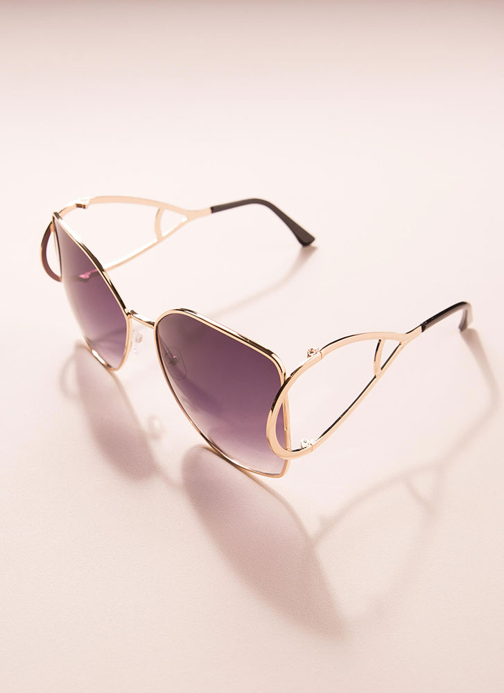 Drop Everything Butterfly Sunglasses BLACK