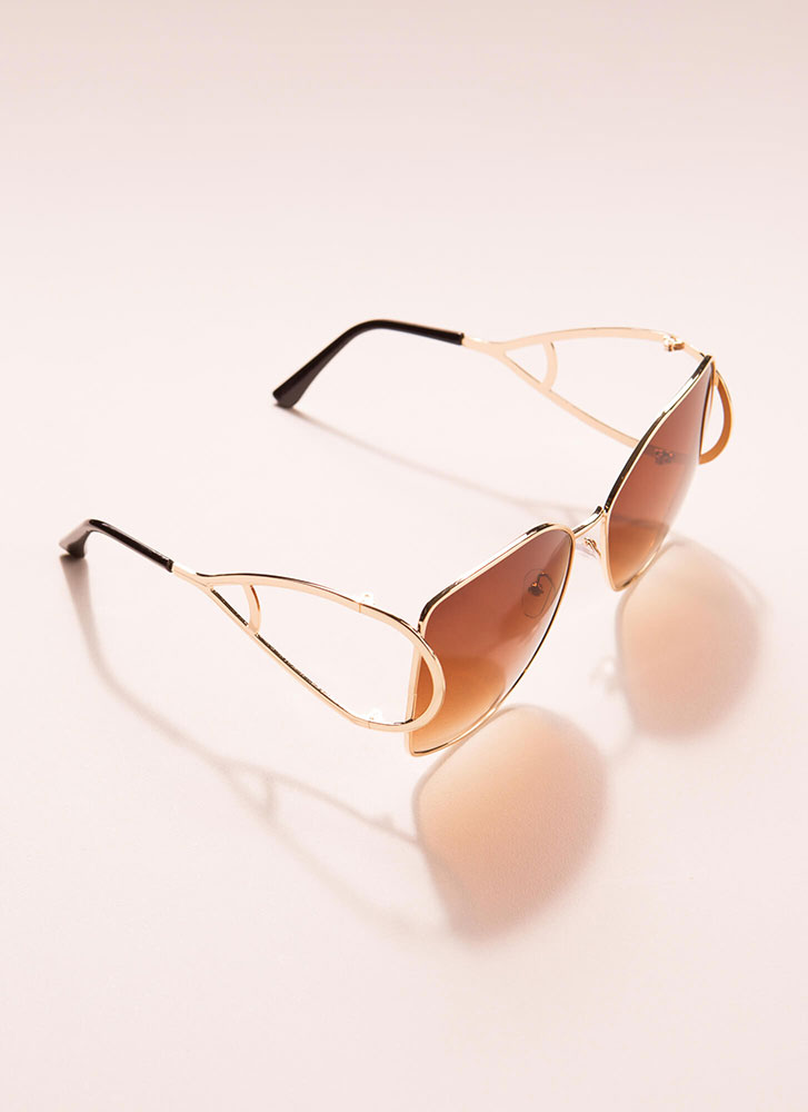 Drop Everything Butterfly Sunglasses BROWN
