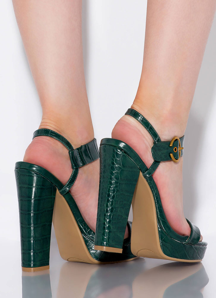 In Cold Blood Chunky Reptile Platforms GREEN