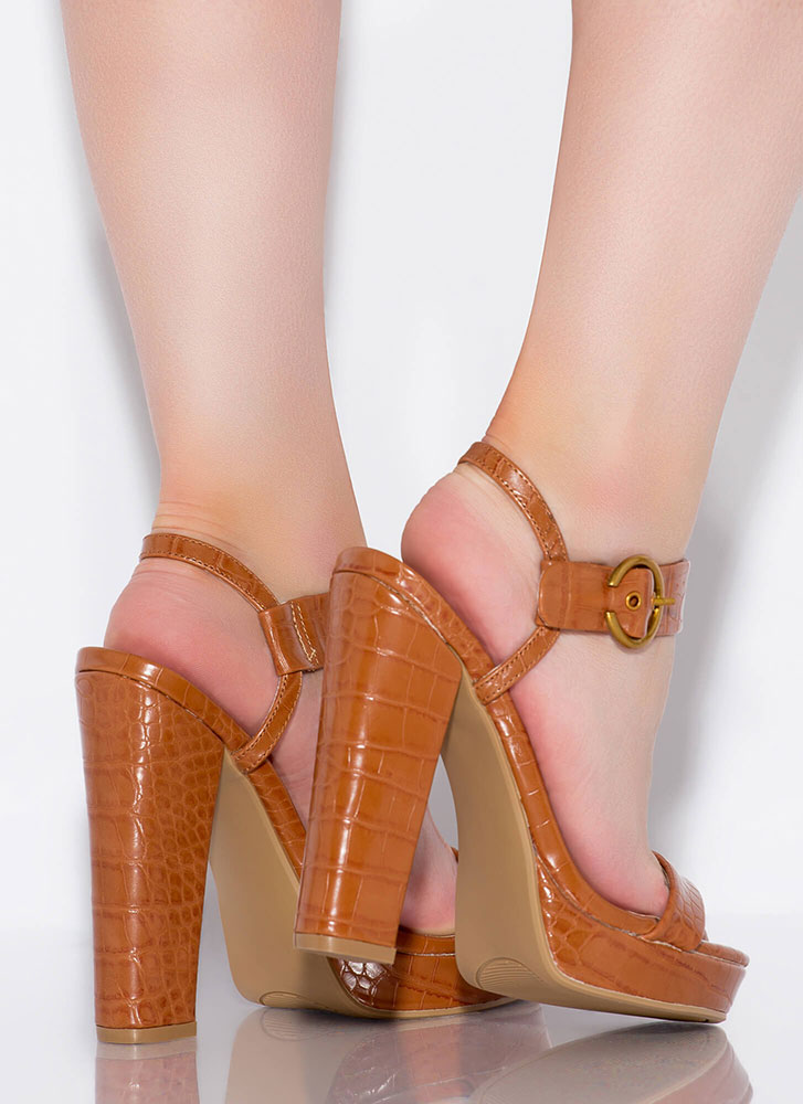 In Cold Blood Chunky Reptile Platforms MOCHA