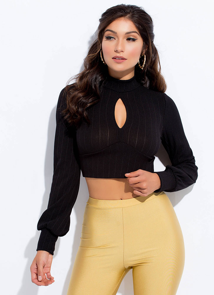 Cut Out For This Tie-Back Crop Top BLACK