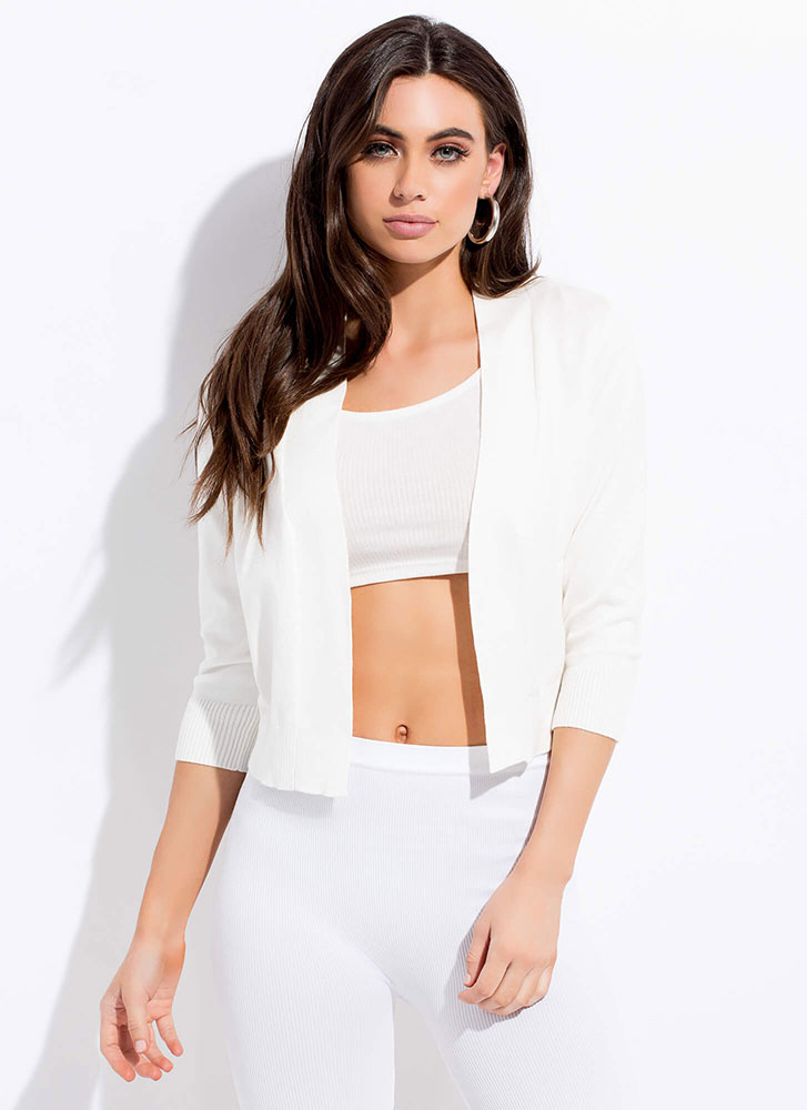 Warm And Comforting Knit Cardigan WHITE