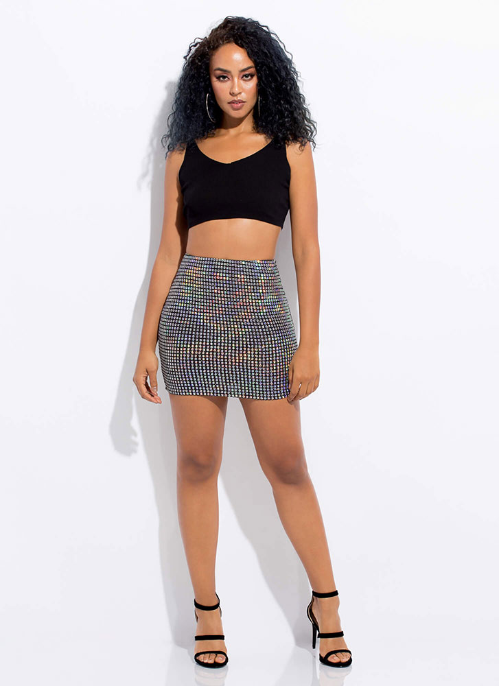 Your Time To Shine Sequined Miniskirt SILVER