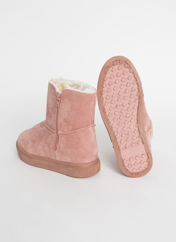 Shearling Beloved Faux Suede Boots PINK