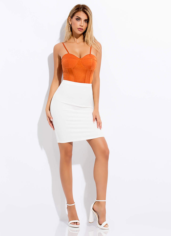 I'll Pencil You In High-Waisted Skirt OFFWHITE