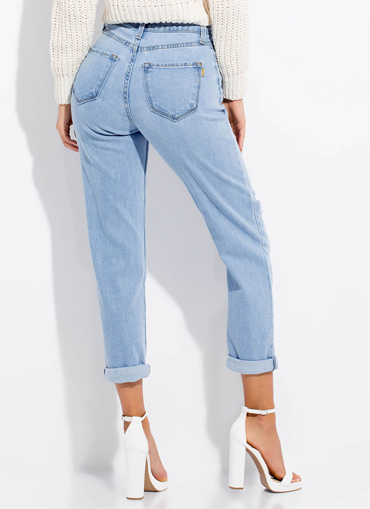 Cut-Out For This Ripped Girlfriend Jeans LTSTONE