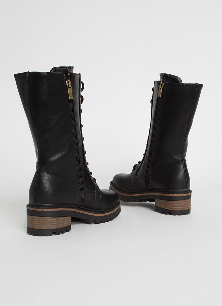 Higher Calling Tall Combat Boots BLACK