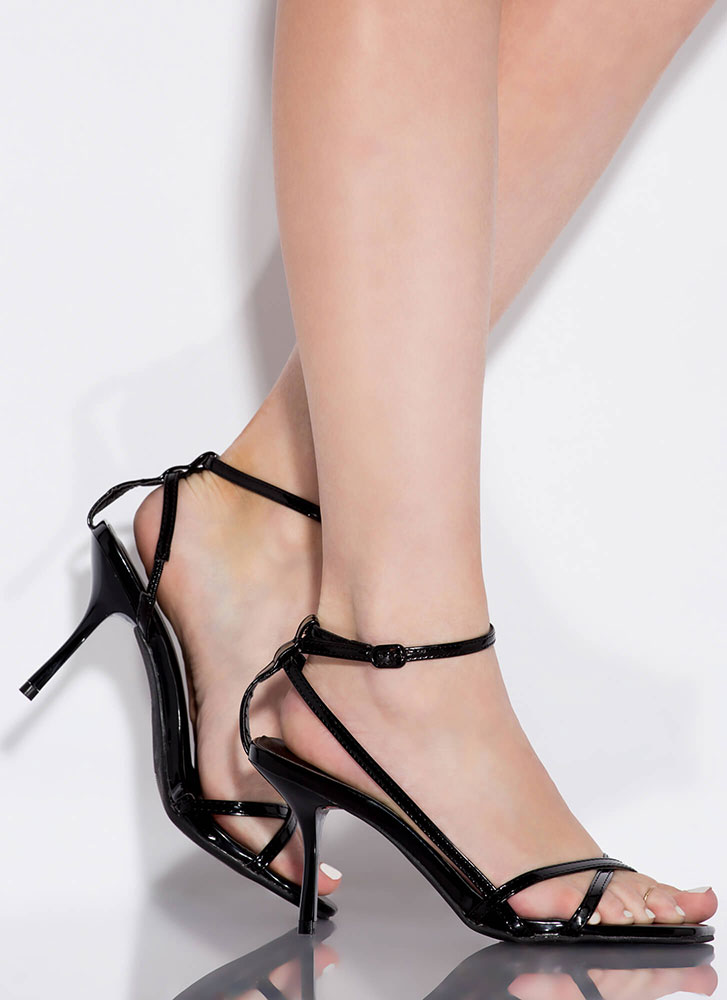 Whatever Makes You Strappy Heels BLACK