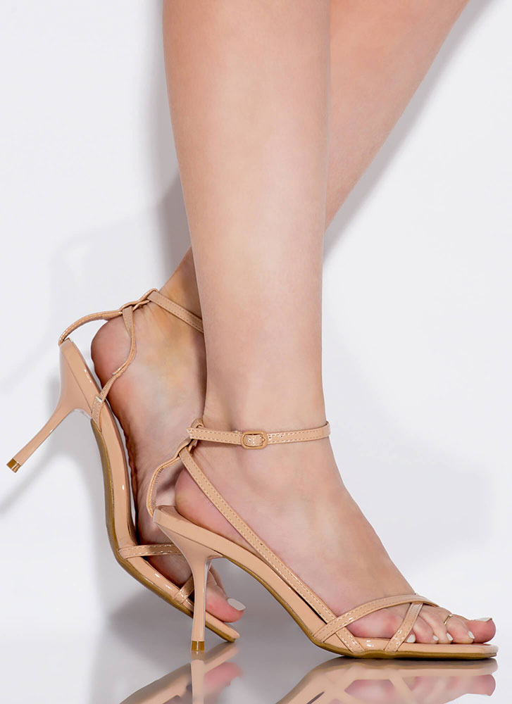 Whatever Makes You Strappy Heels NUDE