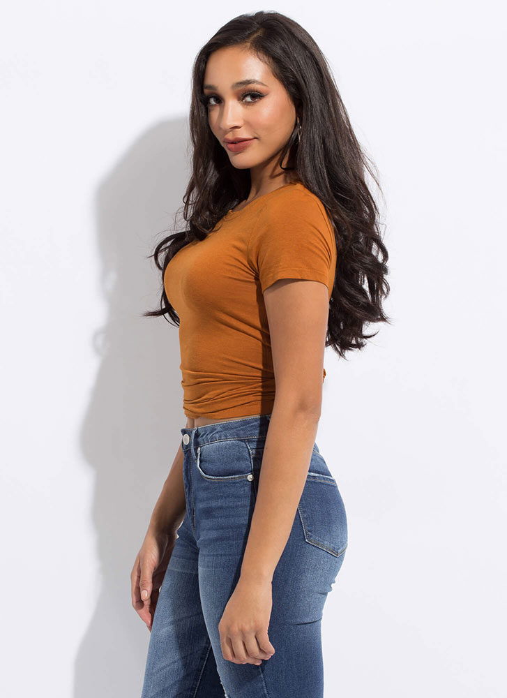 Just What You Need Slim-Fit Basic Tee TERRACOTTA