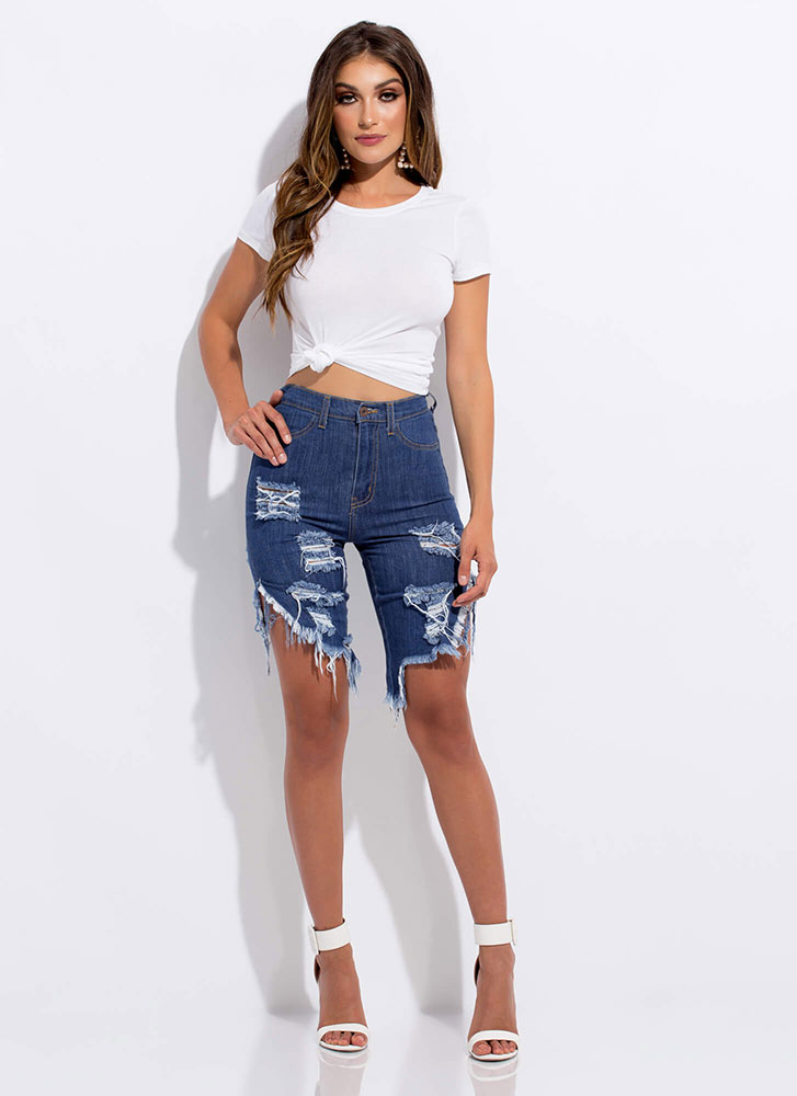 Just What You Need Slim-Fit Basic Tee WHITE