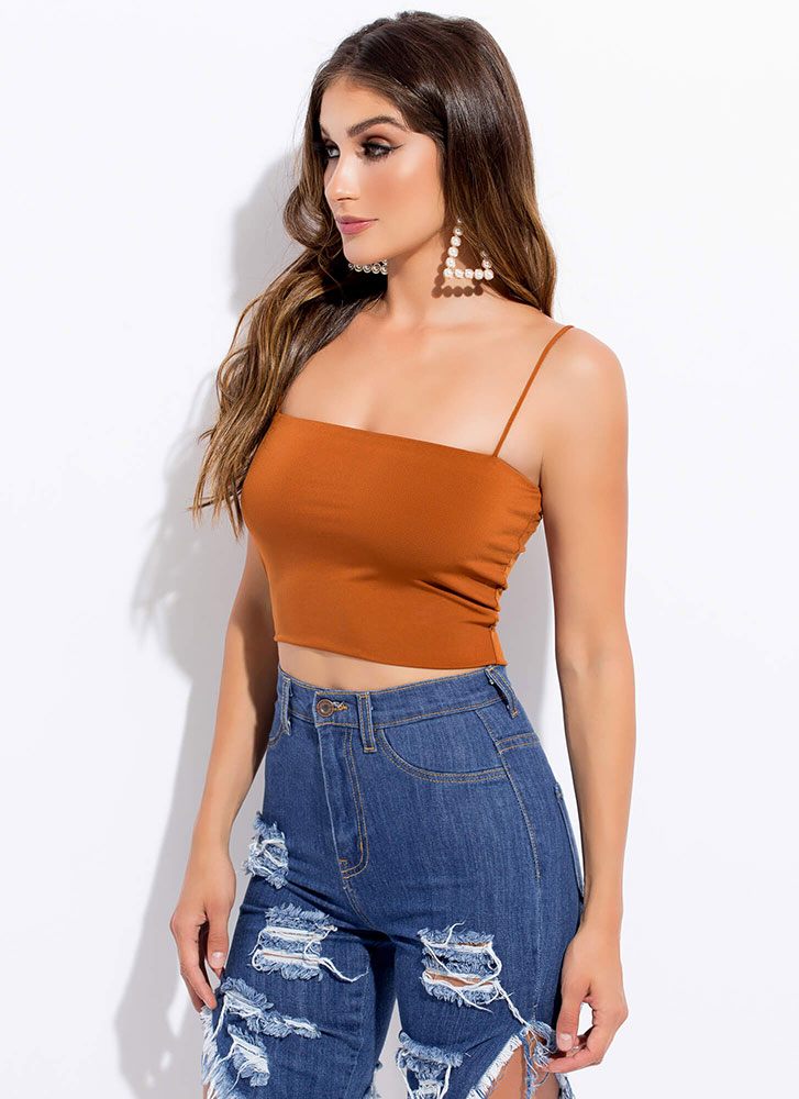 The Perfect 'Fit Cropped Tank Top RUST