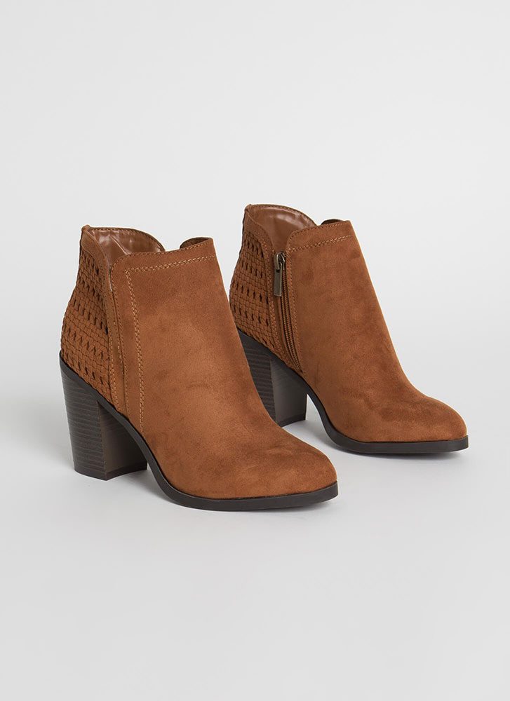 Add To Basket Chunky Woven Booties DKCAMEL