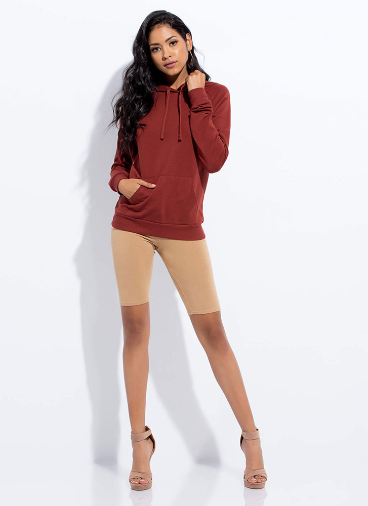 Cool And Casual Slim-Fit Hoodie TERRACOTTA