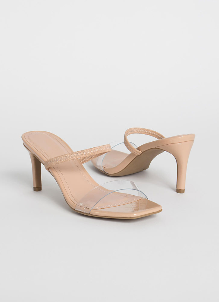 My Strappy Ever After Slip-On Heels NUDE