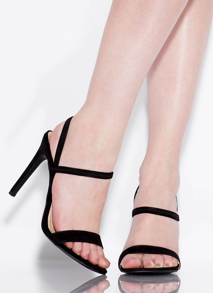 Timeless Silhouette Strappy Heels BLACK