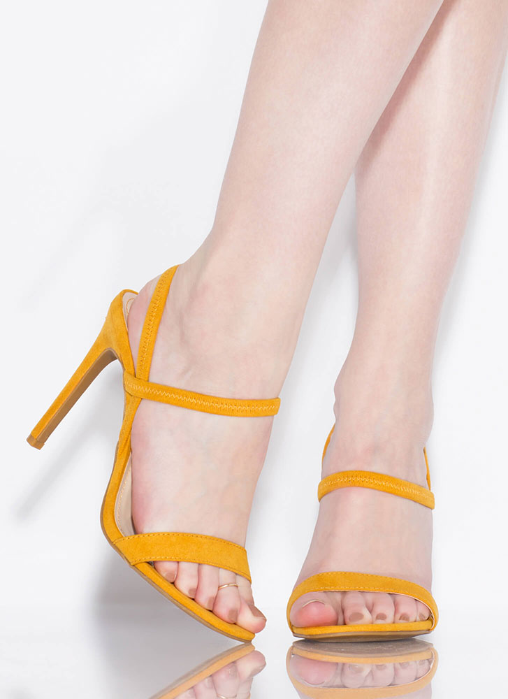 Timeless Silhouette Strappy Heels MUSTARD