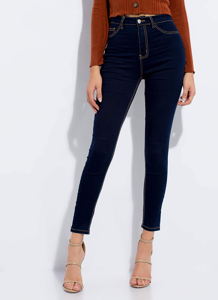 Classic Silhouette Skinny Jeans DKBLUE