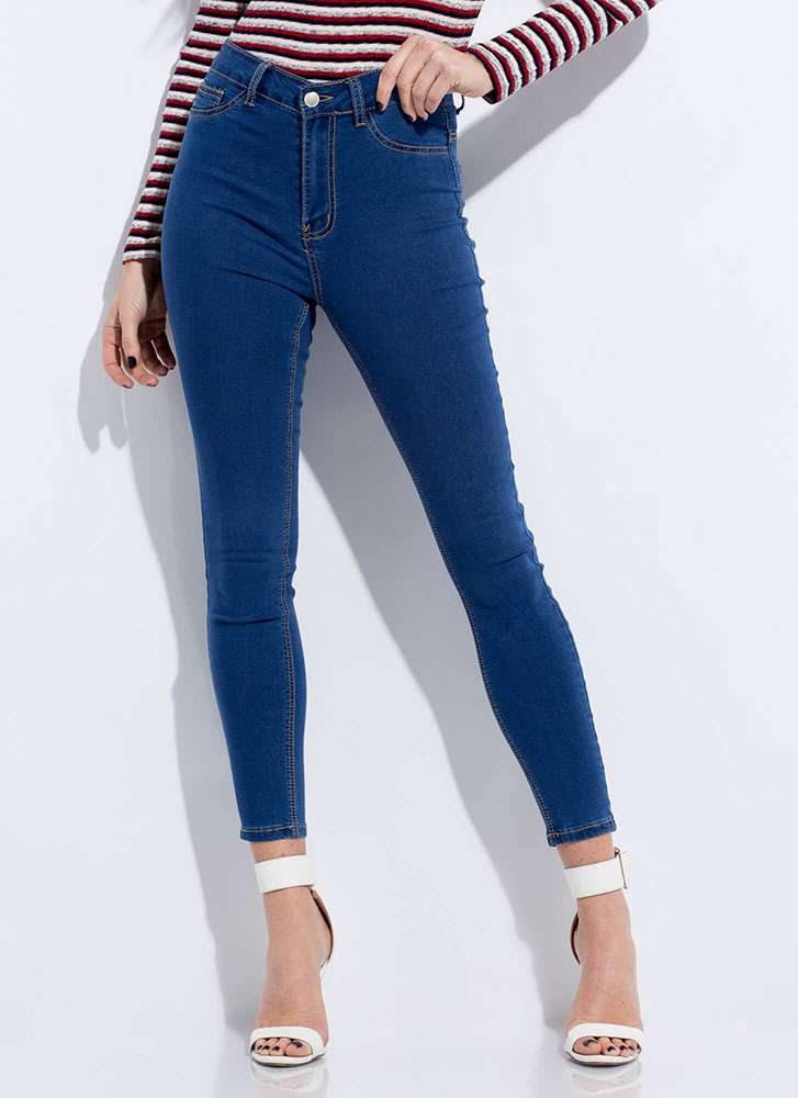 Classic Silhouette Skinny Jeans MEDBLUE