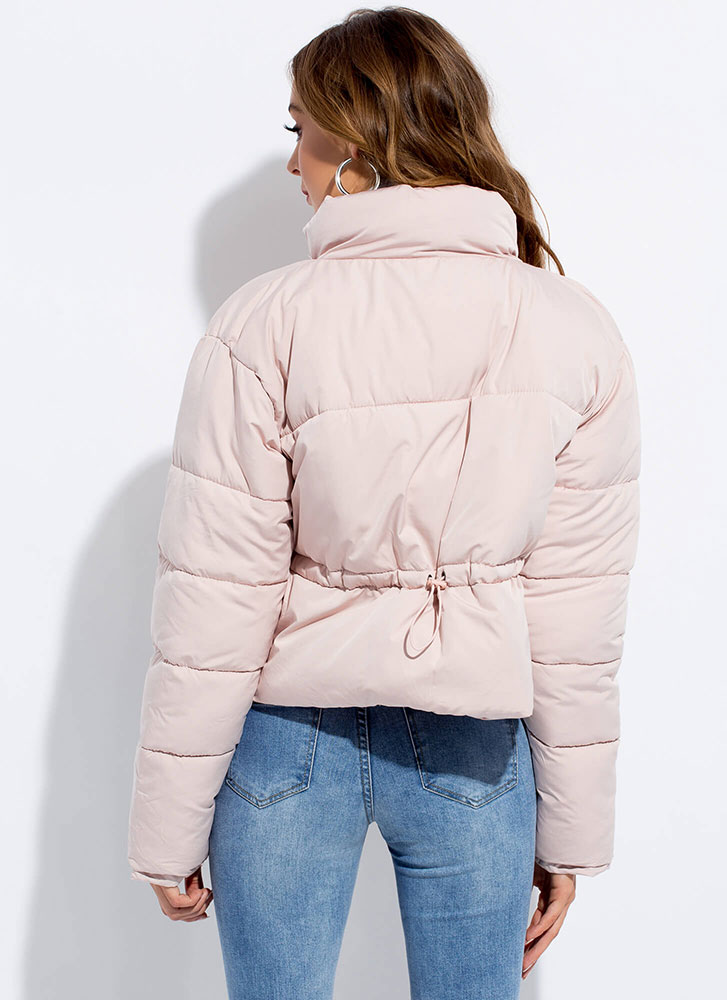 Warm Wishes Zip-Front Puffy Jacket PINK