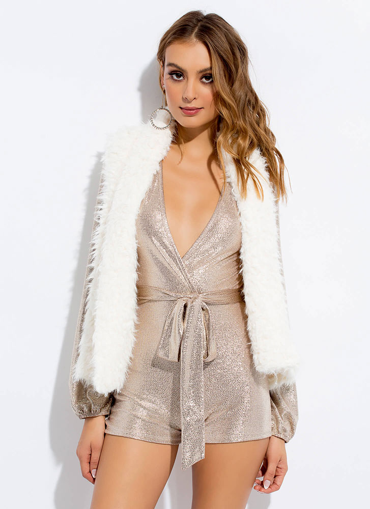 Too Cozy For Comfort Faux Shearling Vest IVORY