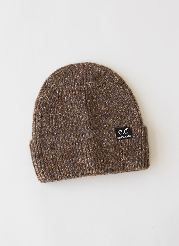 Head On Marled Knit Beanie BROWN