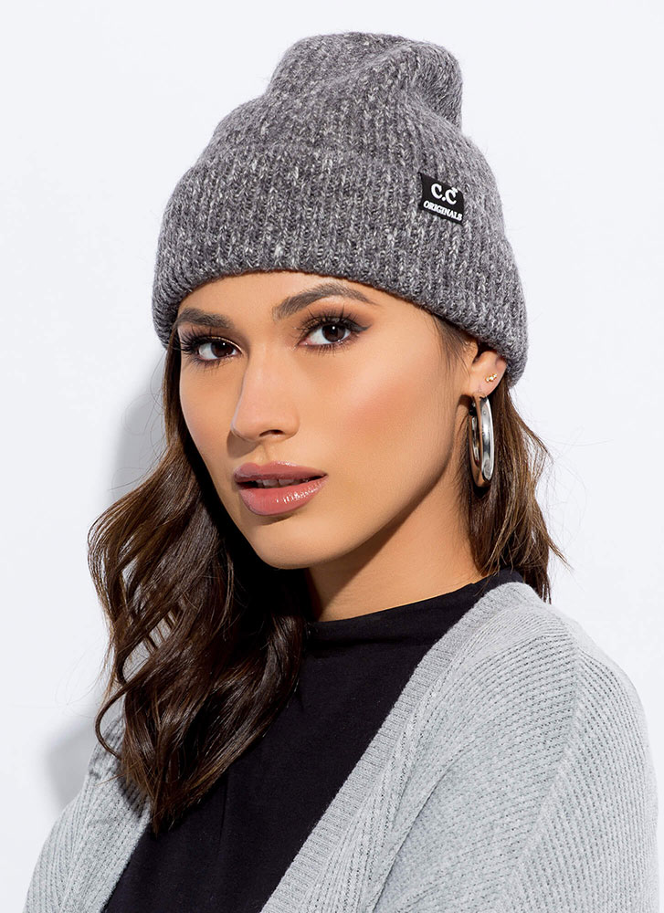Head On Marled Knit Beanie GREY
