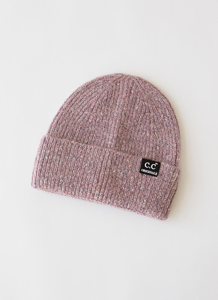 Head On Marled Knit Beanie ROSE