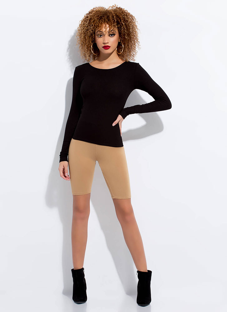 Start With The Basics Long-Sleeved Top BLACK