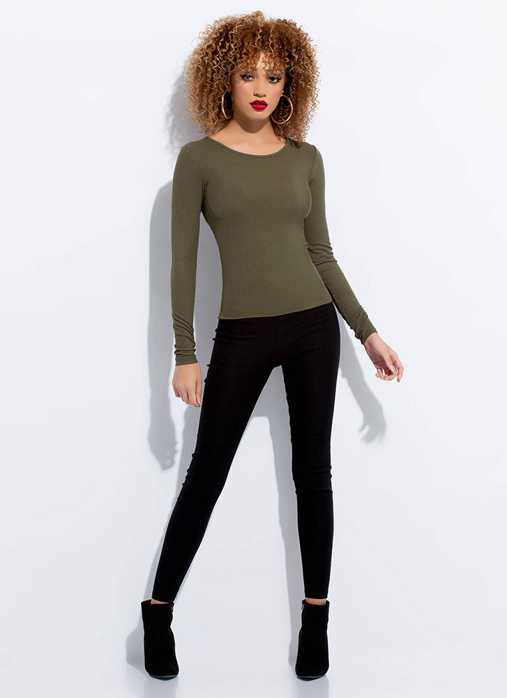 Start With The Basics Long-Sleeved Top OLIVE