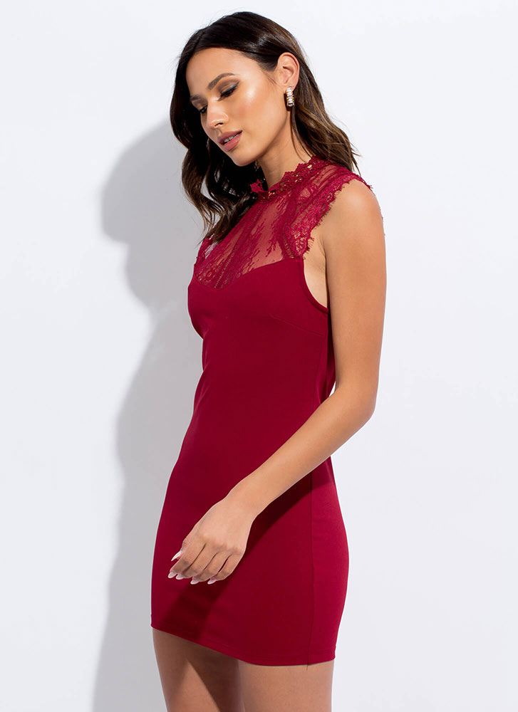 Date Night Floral Lace Minidress RUBY
