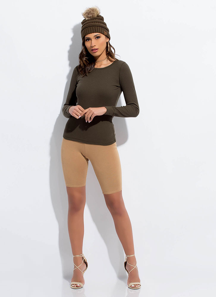 Blame It On The Basic Long-Sleeved Top OLIVE
