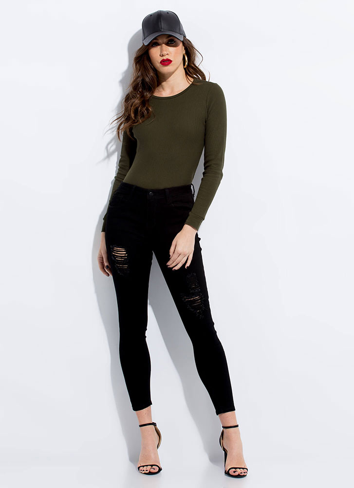 Utility Player Long-Sleeved Thermal Top OLIVE