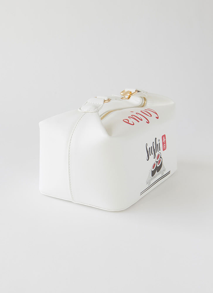 Sushi Date Novelty Lunchbag Purse WHITE