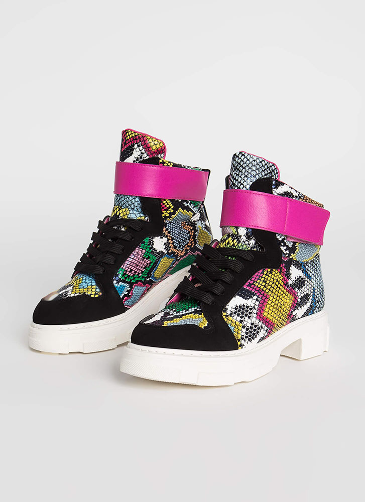 High Snakes High-Top Platform Sneakers MULTI