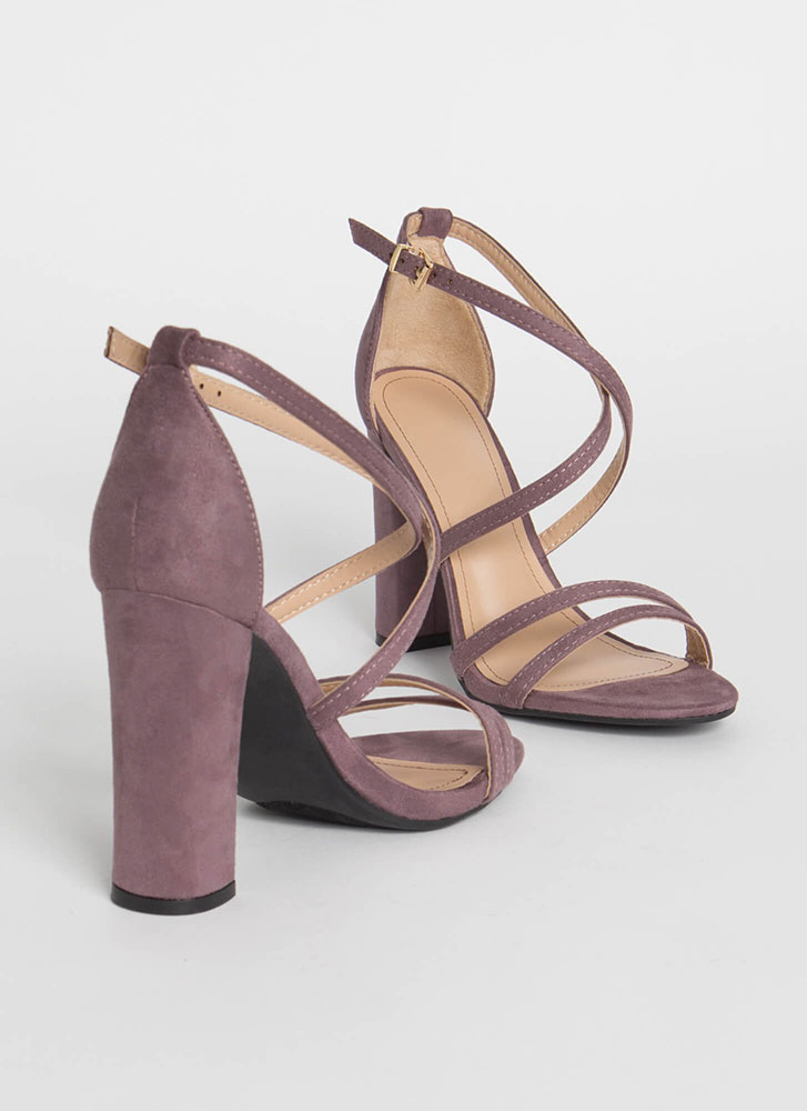 My Strappy Ever After Chunky Heels PURPLE