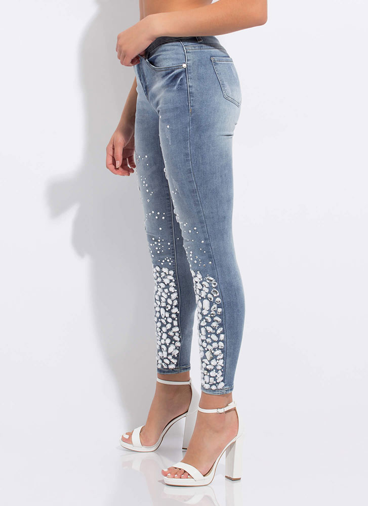 My Own Little Bubbles Jeweled Jeans MEDBLUE