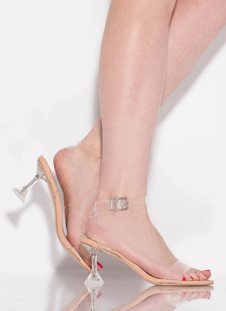 Base Instinct Clear Illusion Heels NUDE