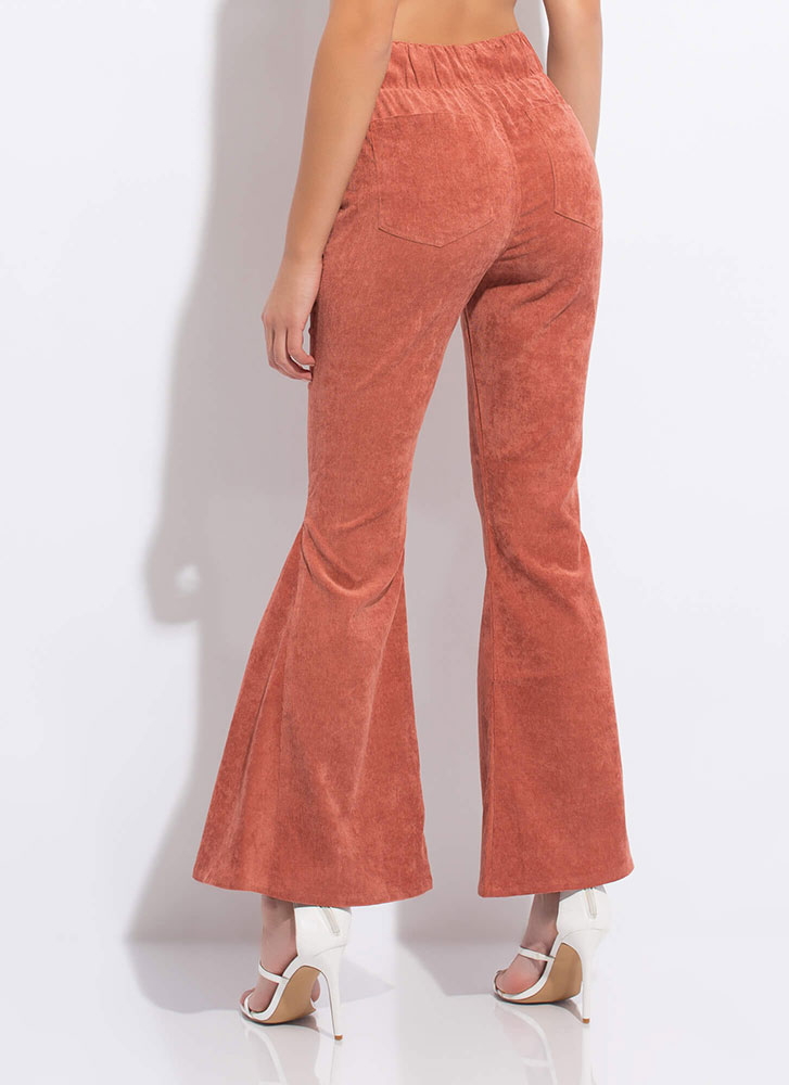 Flare For Corduroy Bell-Bottom Pants CLAY