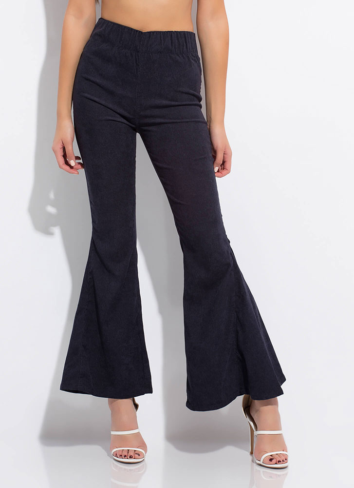 Flare For Corduroy Bell-Bottom Pants NAVY